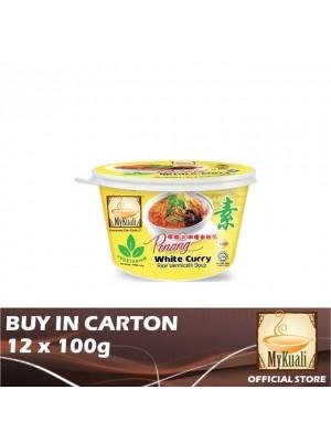 MyKuali Penang White Curry Rice Vermicelli Vegetarian Bihun 12 x 100g
