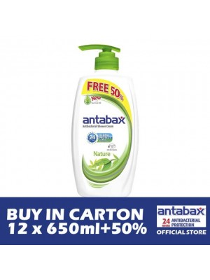 Antabax Anti-Bacterial Shower Gel - Nature 12 x (650ml + 50%)