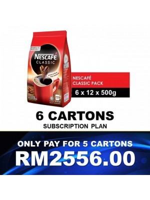 2)Nestle Professional Nescafe Classic Refill (12x500g) Buy 5ctn Free 1ctn Subscription Voucher