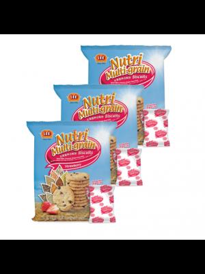 Lee Biscuit Nutri Multi-grain Biscuits Strawberry 3x160g
