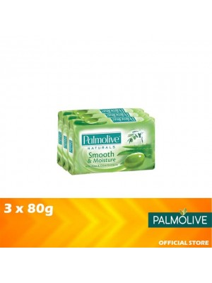 Palmolive Smooth & Moisture Bar Soap Valuepack 3 x 80g [MUST BUY]