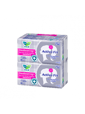 Laurier Pantyliner Active Fit - Deodorant AG+ (2x36s)