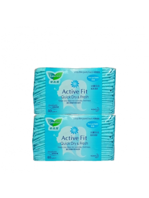 Laurier Pantyliner Active Fit - Non Perfume (2x40s)