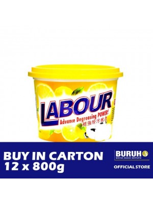 Labour Dishwash Paste - Lemon 12 x 800g