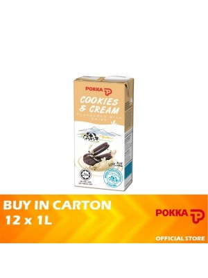 Pokka Cookies and Cream 12 x 1L