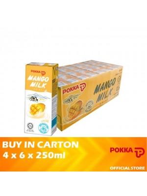 Pokka Mango Milk 4 x 6 x 250ml