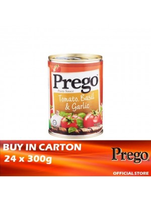 Prego Tomato, Basil  & Garlic Pasta Sauce 24 x 300g [Essential]