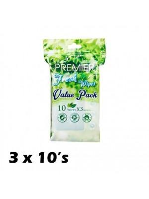 Premier Fresh Wipes Value Pack 3 x 10's