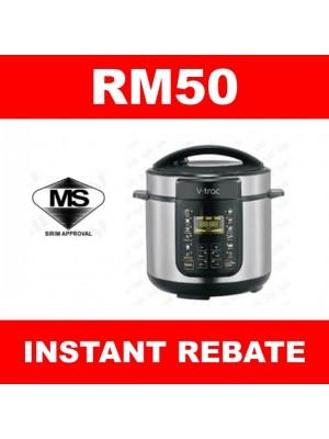V-Trac VT-6106PC Pressure Cooker 6L & Get RM50 Instant Rebate