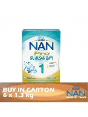 Nestle Nan Pro 1 Infant Formula BiB 6 x 1.3kg