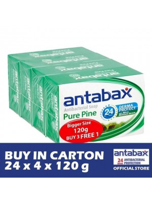 Antabax Anti-Bacterial Body Soap - Pure Pine 24 x 4 x 120g