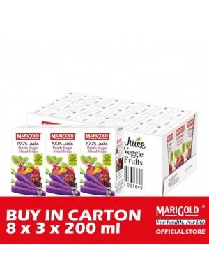 Marigold 100% Juice Purple Veggie Mixed Fruits 8 x 3 x 200ml