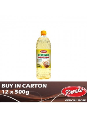 Rasaku Coconut Cooking Oil 12 x 500g