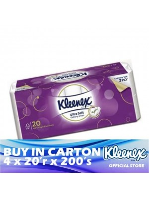 Kleenex Clean Care 3ply Ultra Soft Cottony Clean 4 x 20'r x 190's