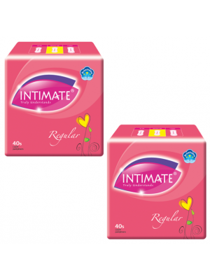 Intimate Regular Pantyliner 2x40 pcs