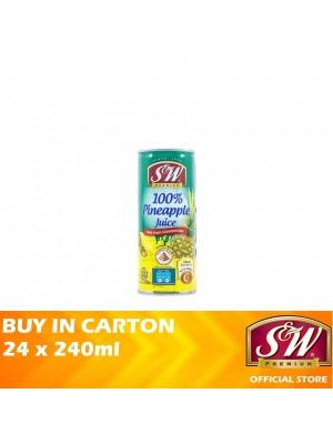 S&W 100% Pineapple Juice 24 x 240ml