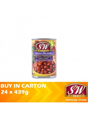 S&W Chili Beans in a Zesty Tomato Sauce 24 x 439g