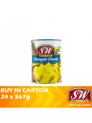 S&W Pineapple Chunks 24 x 567g