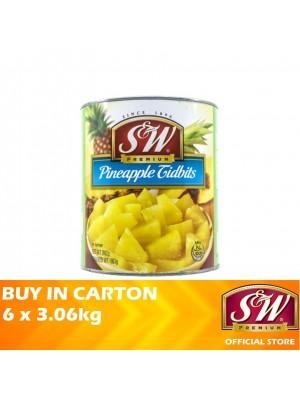 S&W Pineapple Tidbits 6 x 3.06kg