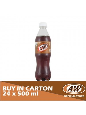 A&W Sarsaparilla PET 24 x 500ml