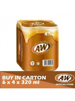 A&W Sarsaparilla 6 x 4 x 320ml
