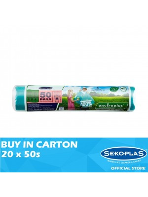 Sekoplas Enviroplus Photodegradable Garbage Bag Roll Medium 20 x 50s