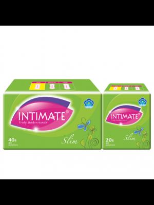Intimate Slim Pantyliner 40 pcs + 20 pcs (Value Pack)