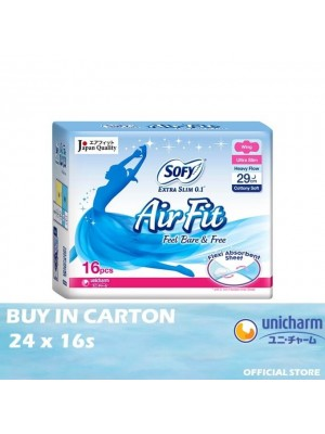 Sofy Air Fit Extra Slim 0.1 Night Wing 29cm 24 x 16s