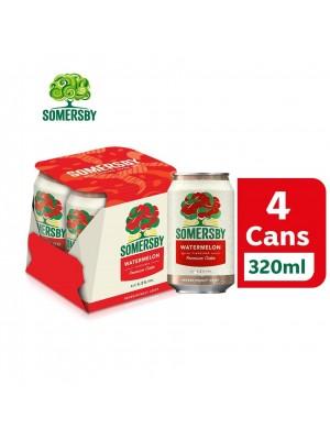3D. Somersby Watermelon Premium Cider Can 4 x 320ml