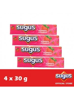 Sugus Strawberry Stick 4 x 30g (EXP : 03/2022) [MUST BUY]