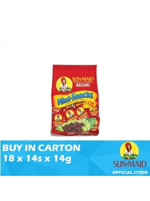 Sunmaid USA Raisins Mini Bag 18 x 14s x 14g