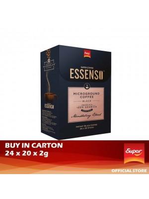 Super Coffee Essenso - MicroGround Black Coffee Mandheling Blend 24 x 20 x 2g