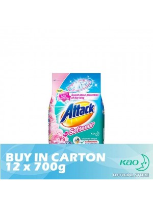 Attack Powder Detergent Plus Softener Sweet Floral (ATS) 12 x 700g