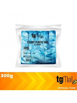 TG Mall Singlet Plastic Bag T-Shirt Bag Blue 300g