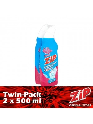 Zip Toilet Bowl Cleaner - Floral (Twin-Pack 2 x 500ml)