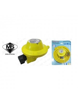 Trac DS-2182GRS Low Pressure Gas Regulator Yellow 1.5M Heavy Duty