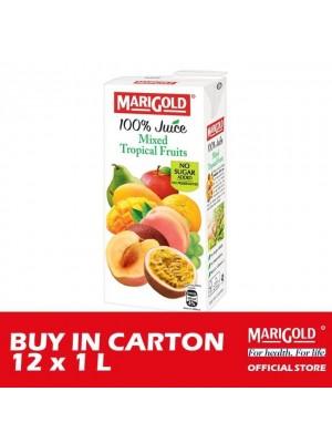 Marigold 100% Juice Mixed Tropical Fruits 12 x 1L