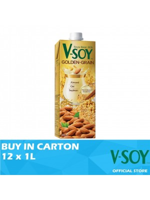 V-Soy Golden Grain Soya Bean Milk UHT 12 x 1L