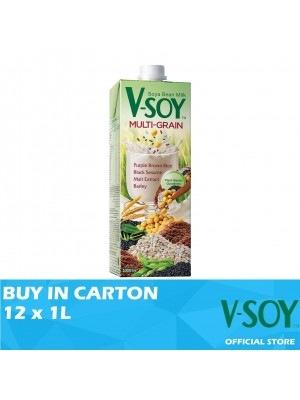 V-Soy Multi-grain Soya Bean Milk UHT 12 x 1L