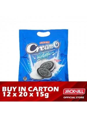Jack 'n Jill Cream-O Vanilla Sandwich Cookies 12 x [Multi Pack - 20 x 15g]
