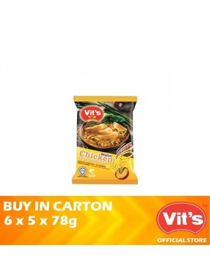 Vits Shallot Chicken Instant Noodles 6 x 5 x 78g