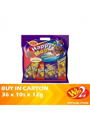 WinWin Happy Moo Chocolate Biscuits 36 x 10s x 12g