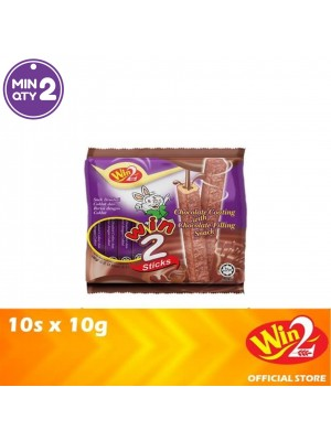 WinWin Win 2 Sticks Chocolate Coating With Chocolate Filling Snack 10s x 10g