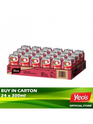 Yeo's Lychee Can 24 x 300ml
